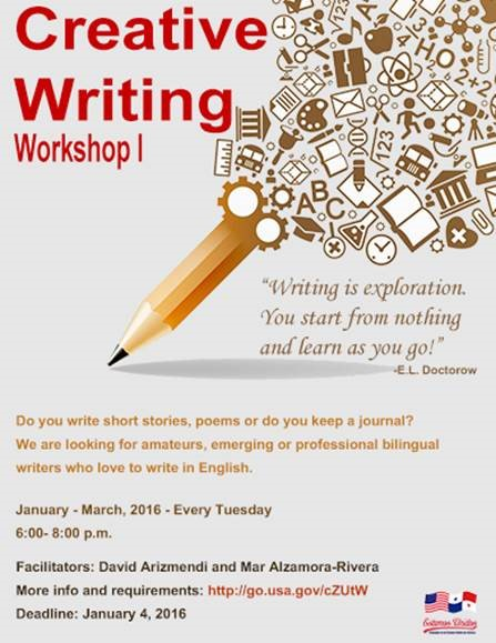 workshop on creative writing Spring 2018 creative writing workshops is the workshop you wanted filled call us to be added to waiting list or be notified if new sections are opened.